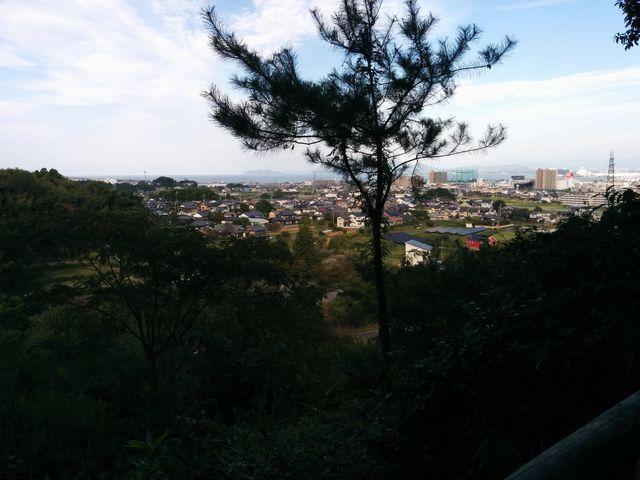 春日山公園展望台からの風景